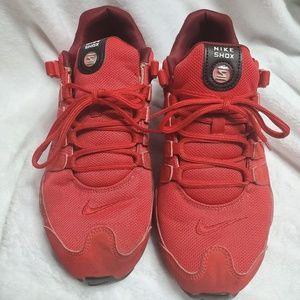 Nike shox University red
